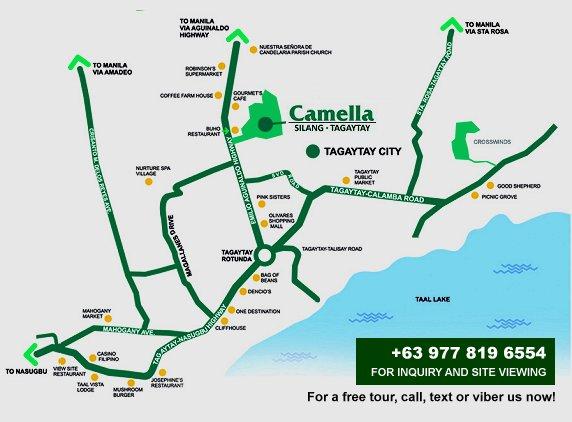 Camella Silang Map