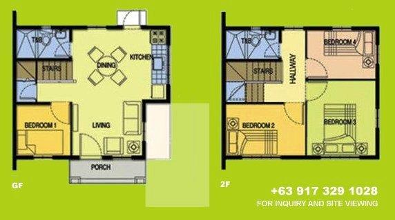Carmela Floor Plan House and Lot in Tagaytay
