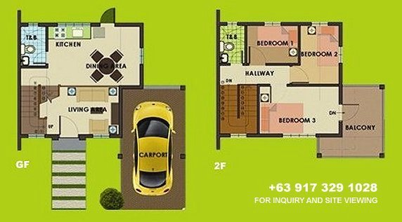 Carmina Downhill Floor Plan House and Lot in Tagaytay