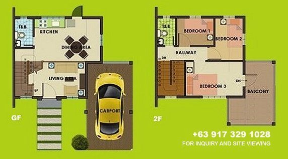 Carmina Uphill Floor Plan House and Lot in Tagaytay