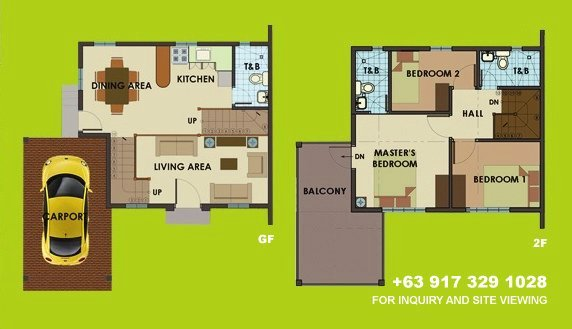 Model floor plan homes
